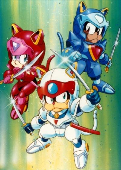 постер аниме Коты-Самураи