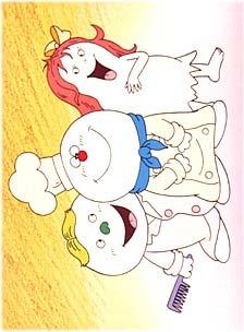 постер аниме Chiisana Obake Acchi, Kocchi, Socchi