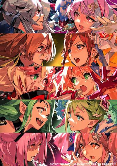 постер аниме Gekijouban Macross Delta: Zettai Live!!!!!!