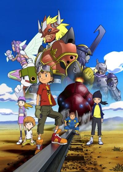 постер аниме Digimon Frontier