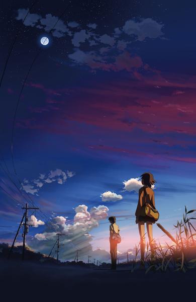 постер аниме Пять сантиметров в секунду
