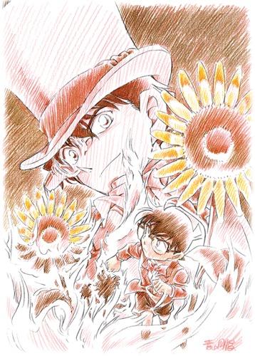 Знаменитый детектив Конан: Подсолнухи инферно (Фильм 19) / Meitantei Conan: Gouka no Himawari [Movie] [1 из 1] [Без хардсаба] [JAP, SUB] [2015, детектив, романтика, сёнэн, BDRip] [1080p]