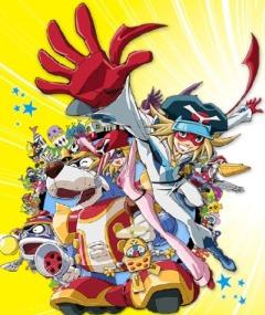 постер аниме Gekijouban Yatterman: Shin Yattermecha Osu gou! Omocha no Kuni de Dai Ketsudan da Koron