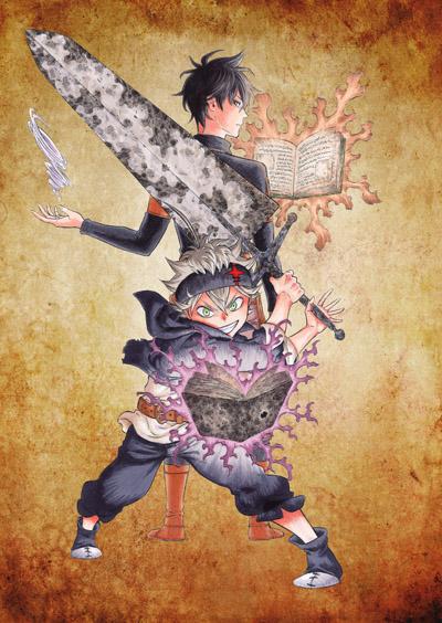 постер аниме Чёрный клевер OVA