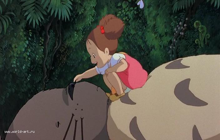 Мой сосед тоторо.  Miyazaki Hayao / 宮 崎 駿. Хидака...  Сегодня хочу написать о моём самом любимом аниме.