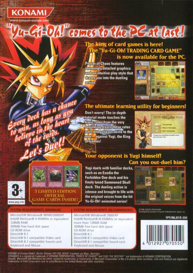 yu gi oh power of chaos download pc game