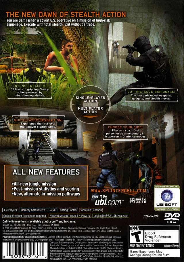 Tom clancys splinter cell team stealth action 3d nokia n70 cell phone game