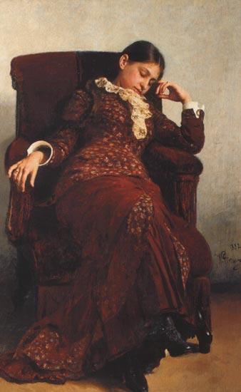 Отдых портрет в а репиной 1882