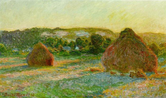 Стога сена конец лета 1890