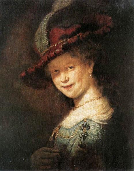 Улыбающаяся саския 1633