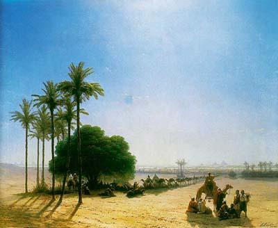Караван в оазисе египет 1871